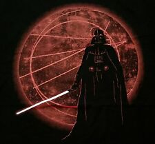 """Dark Forces"" Darth Vader Death Star Men's XL Shirt Teevillain"