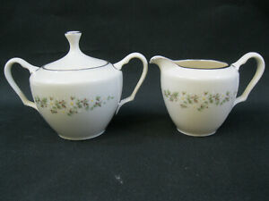 Lenox Brookdale~(1)~Sugar Bowl and Cream Pitcher~1st Quality~Perfect