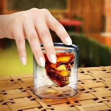 1X Crystal Skull Head Vodka Shot Whiskey Wine Drinking Glass Decanter Cup 25ml