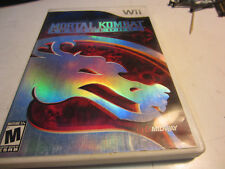 Wii Mortal Kombat Armageddon Game, Case, Manual