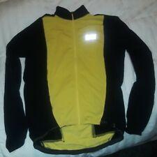 Gore Bike Wear Jersey Mens Long Sleeve Zip Up Top Jacket Yellow Black Size M