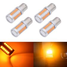 4Pcs Amber 1156PY BAU15S PY21W LED 33SMD Car Tail Turn Brake Reverse Signal Bulb