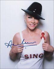 Preprinted Pop Star Annie Lennox Autograph Hand Signed Autographed Photo Picture