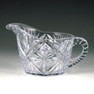 Plastic Crystal Cut 8 oz Coffee Cream Pitcher