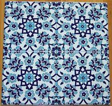 "50 Blue & White 8""x8"" (20cm x 20cm) Turkish Iznik Daisy Pattern Ceramic Tile"