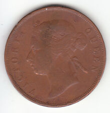 1883 Straits Settlements Queen Victoria 1 Cent.