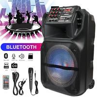 "Rechargeable FM Bluetooth speaker portable 12"" Subwoofer  + 1 Tweeter USB Remote"