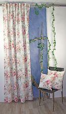 Seitenschal Dekoschal verdeckter Schlaufenschal 2266 Kissen Rose Tischdecke Set