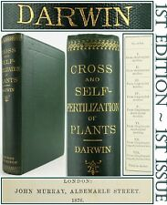 1876*CHARLES DARWIN*CROSS & SELF FERTILISATION*1st EDITION*HYBRIDISM/POLLINATION