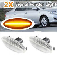 2x Led Side Wing Repeater Indicator Lights For TOYOTA YARIS AURIS COROLLA