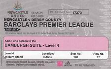 Ticket - Newcastle United v Derby County 23.12.07