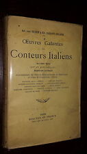 OEUVRES GALANTES DES CONTEURS ITALIENS - Ad. Van Bever Ed. Sansot-Orland 1926