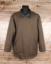 TIMBERLAND Men Leather APP Jacket Coat Size XL, Genuine