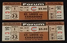 1975 - MONTREAL CANADIENS vs ST LOUIS BLUES - MONTREAL FORUM - UNUSED TICKET (2)