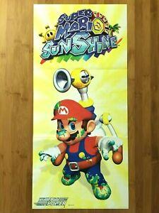 Official Super Mario Sunshine Gamecube 2002 Nintendo Power Poster Authentic New!