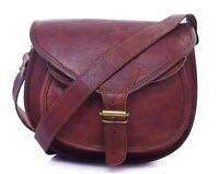 UK Vintage Genuine Brown Leather Messenger Shoulder Cross Body Bag Handmade