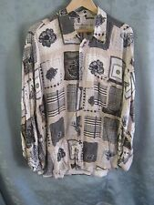 HAUPT Germany Patchwork Print Shirt Size XL