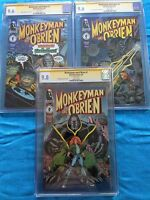 Monkeyman and O'Brien #1-3 set - Dark Horse -CGC SS 9.8 9.6 -Signed by Art Adams