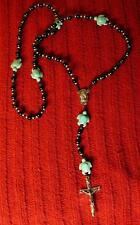 Must See!!! Unique Wonderful Back Onyx Turtle Rosary - Native American Indian