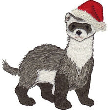 CHRISTMAS FERRET HAND TOWEL SET CUSTOM EMBROIDERED