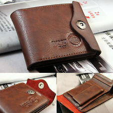 Men Bifold Wallet Credit/ID Card Genuine Leather Holder Slim Purse Casual AU