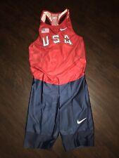 Men's Nike USA Olympics Skinsuit Speedsuit Spandex Unitard Singlet XL
