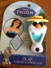 Disney Frozen Olaf Spring Loaded Sarong & Towel Clip New!!