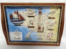 French vintage Nautical Shadow box as serving tray, Nautical Art ,Marine Knots