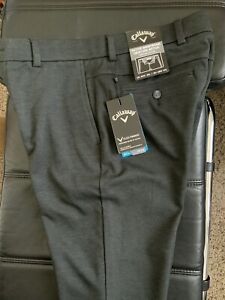 New Callaway Golf Slim Pants European Style. 32/32. Charcoal/Black.