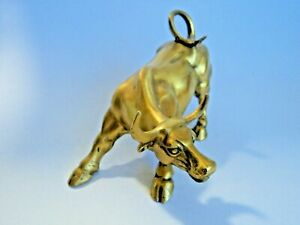 Wall Street Bull Bronze Sculpture Home Decor Party Gift Souvenir Figurine Statue