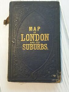 REYNOLDS NEW MAP OF LONDON and it's Suburbs 1883 HB Cloth Bound Map