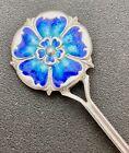 fabulous art nouveau silver & enamel tea spoon by w j holmes birmingham 1906