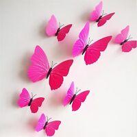 3D Fridge Magnet Butterfly Wall Sticker For Home Wedding Decoration New 12pcs