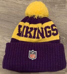 Minnesota Vikings NFL Winter Hat Beanie Pom Fleece Lined Youth
