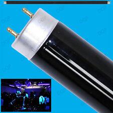 2x 20W T8 UV 600mm 2ft Ultraviolet Blacklight Tube Strip Light DJ Disco BLB Lamp