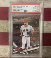 Mike Trout 2017 Topps Chrome White Jersey PSA 10 GEM MINT