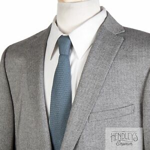 Z ZEGNA Sport Coat 44 R in Deco Steel Gray Wool Herringbone Tweed Modern