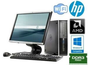 """NEW HP 6005 PRO Family PC/Computer with 21.5 """" large widescreen LED Monitor"""