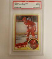 1984 O-Pee-Chee Calgary Flames Hockey Card #230 Jamie Macoun RC PSA 9