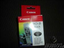 New Open Box Genuine OEM Canon BCI-21 Black Inkjet Cartridge BCI21B