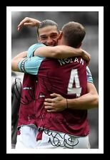 ANDY CARROLL & KEVIN NOLAN - WEST HAM SIGNED & FRAMED PP POSTER PHOTO