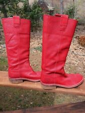d106c287 Kickers 70 Women's 38 (8) Scarlet Tall Leather Riding Cowboy Boots Barely  Worn