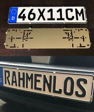 2x Kurz 46 x 11 cm Rahmenlos Kennzeichenhalter Nummernschildhalter Edelstahl (38