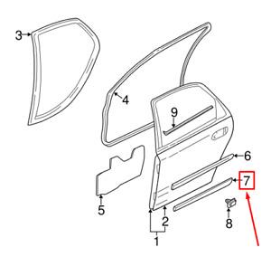NEW VOLVO S60 MK1 REAR LEFT DOOR LOWER MOLDING 9190846 OEM