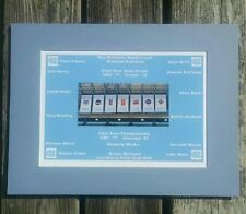 UNC TAR HEELS 2016-17 NATIONAL CHAMPS & ALL  7 CHAMPIONSHIP BANNERS MATTED  PIC