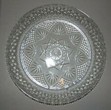 "Luminarc Cristal D'Arques Durand 10 1/4"" Dinner Plates - Clear Glass ""Antique"""