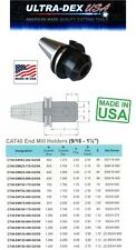 "Ultra Dex CT40 5/8 Standard 1.75"" Length CAT40 End Mill Holder  USA MADE"