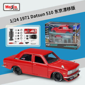 1:24 Maisto 1971 Datsun 510 Diecast Assembly KIT Model Car New in Box