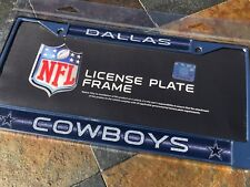 "1 Dallas Cowboys ""Glitter - Bling"" Metal Vehicle License Plate Frame"