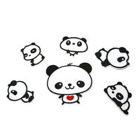 6 Sweet Pandas Embroidery Cloth Iron On Patch Sew Motif Applique EBAU Hw